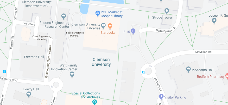Where is Clemson University | Where is Map on