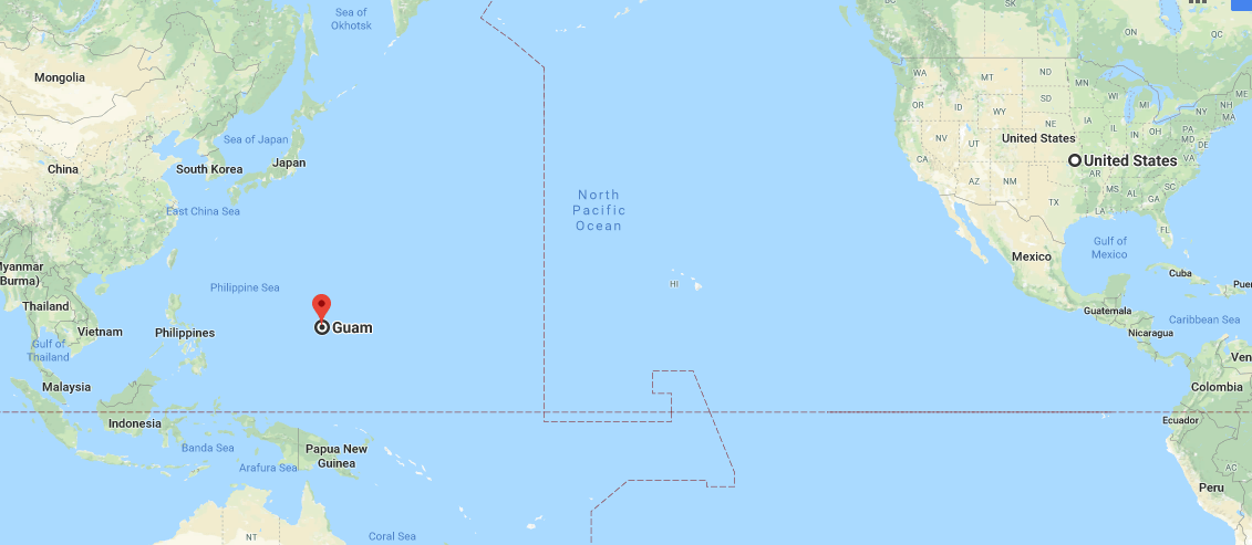 Where Is Guam Located On The Map Where Is Map - Guam world map