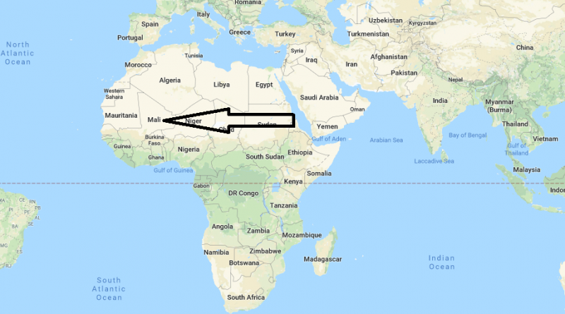 Where is Mali Located in Africa Where is Map