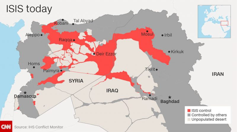 Where is ISIS located? | Where is Map