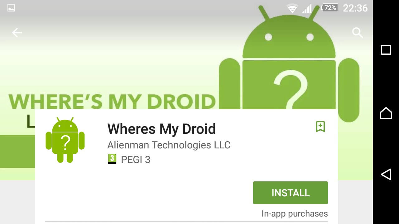 Where is my droid