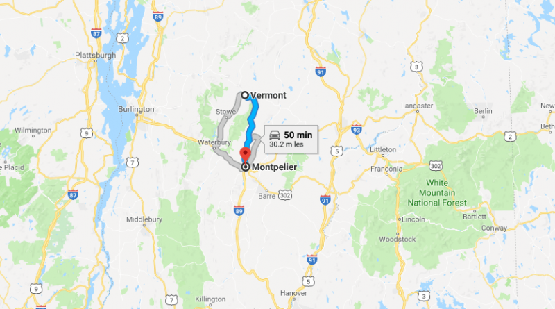 Capital of Vermont Where is the Montpelier city Where is Map