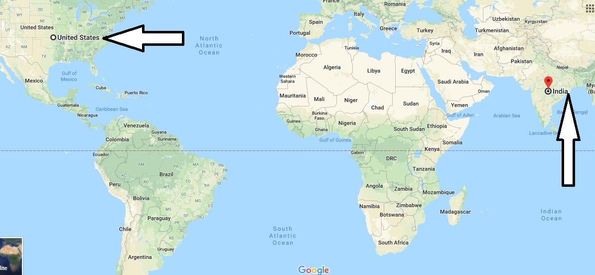 Where is India - Where is India Located in The World - India Map