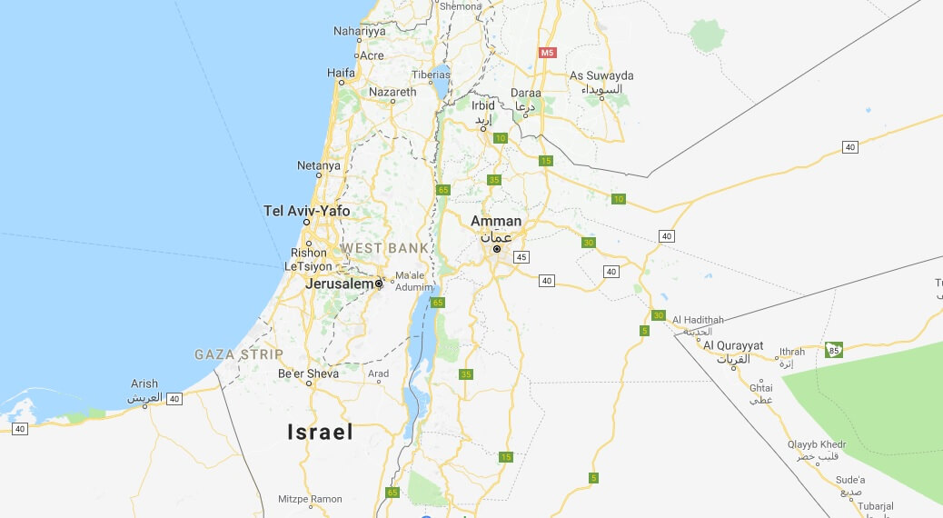 Where is Palestine Located on the Map