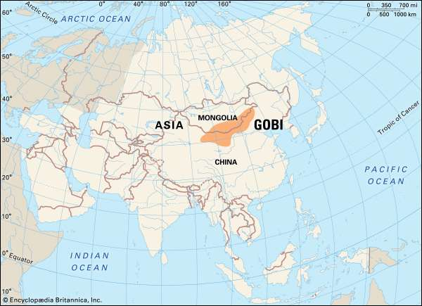 Where Is The Gobi Desert Located On A Map Where Is Map