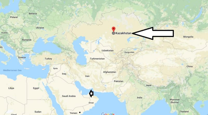 Where is Kazakhstan - Where is Kazakhstan Located in The World - Kazakhstan Map