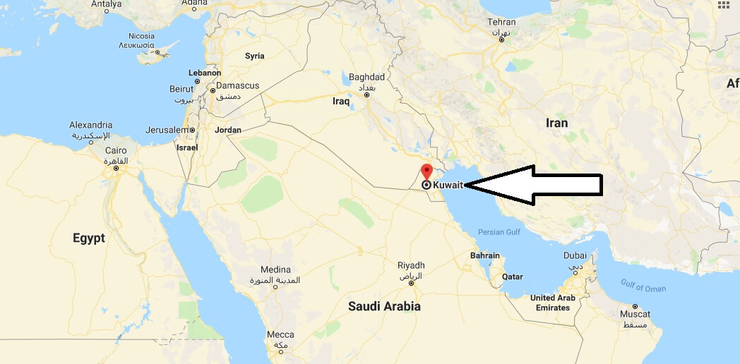 Where is Kuwait - Where is Kuwait Located in The World - Kuwait Map