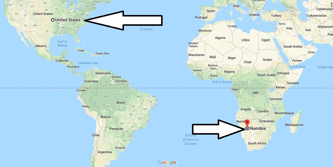 Where is Namibia - Where is Namibia Located in The World - Namibia Map