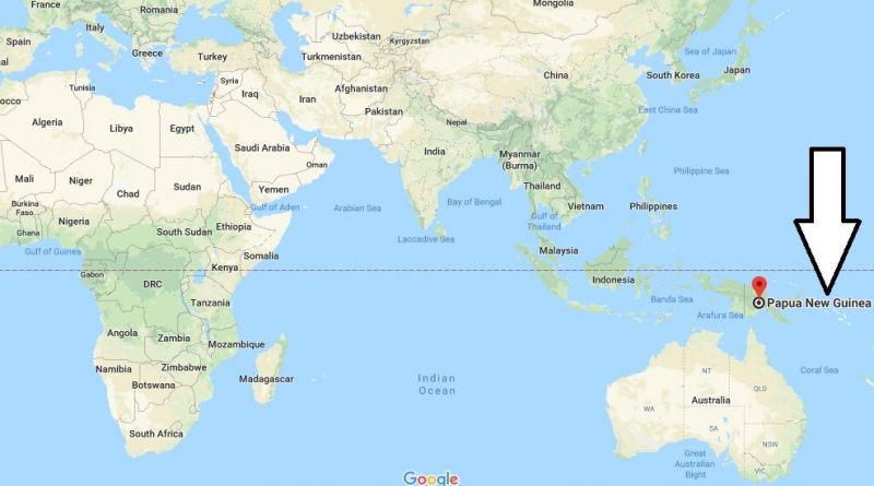 Where is Papua New Guinea - Where is Papua New Guinea Located in The World - Papua New Guinea Map