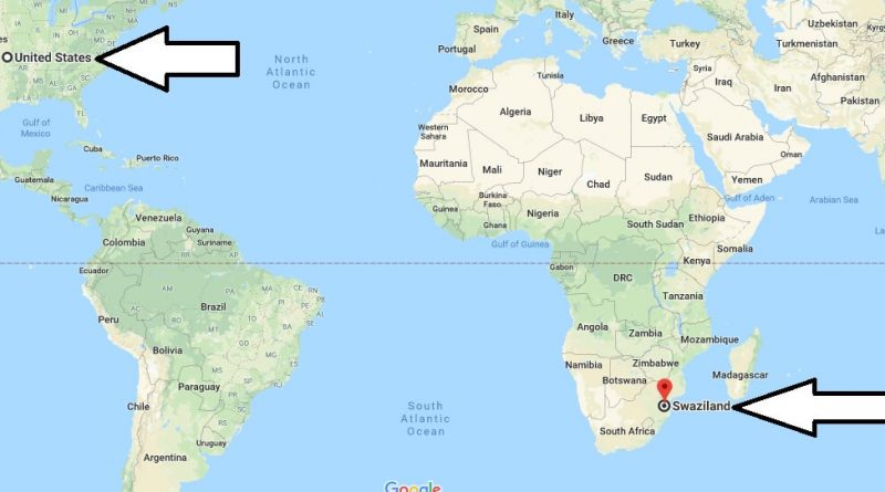Where is Swaziland - Where is Swaziland Located in The World - Swaziland Map