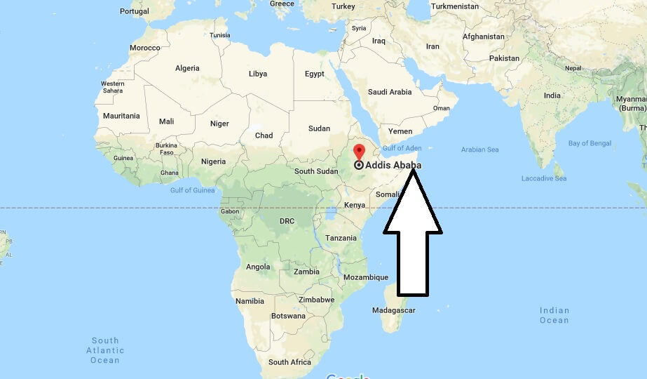 Where is Addis Ababa - What Country is Addis Ababa in - Addis Ababa Map