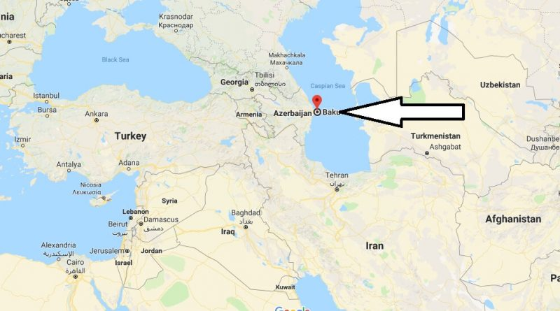 Where is Baku - What Country is Baku in - Baku Map