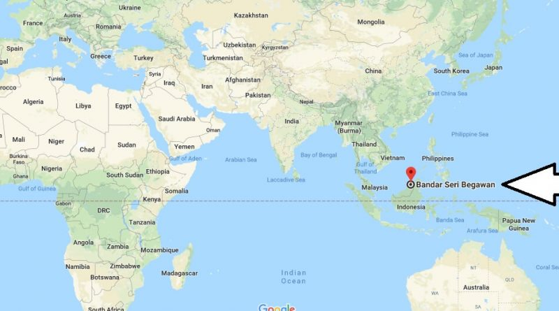 Where is Bandar Seri Begawan - What Country is Bandar Seri Begawan in - Bandar Seri Begawan Map