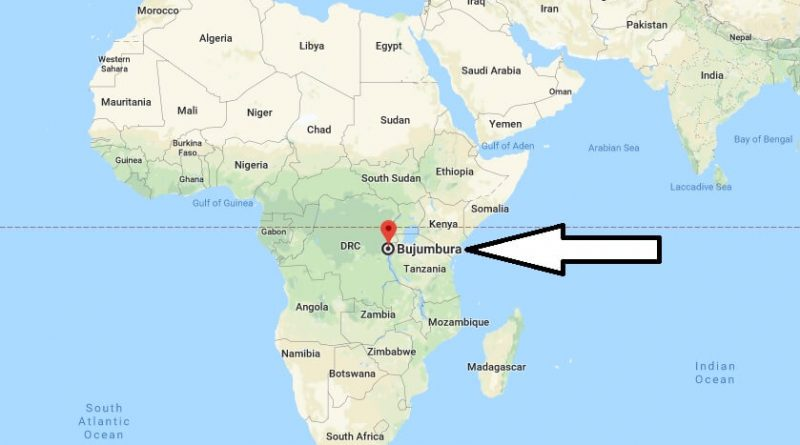 Where is Bujumbura - What Country is Bujumbura in - Bujumbura Map
