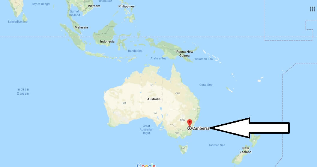 Where is Canberra - What Country is Canberra in - Canberra Map