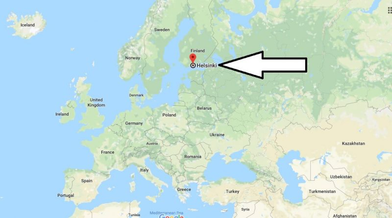 Where is Helsinki - What Country is Helsinki in -Helsinki Map