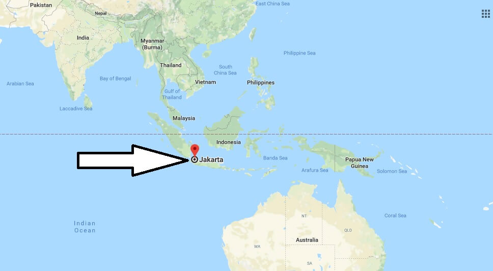 Where is Jakarta - What Country is Jakarta in - Jakarta Map