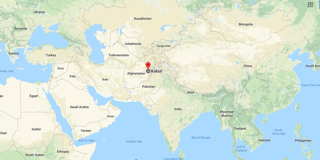 Where is Kabul - What Country is Kabul in - Kabul Map