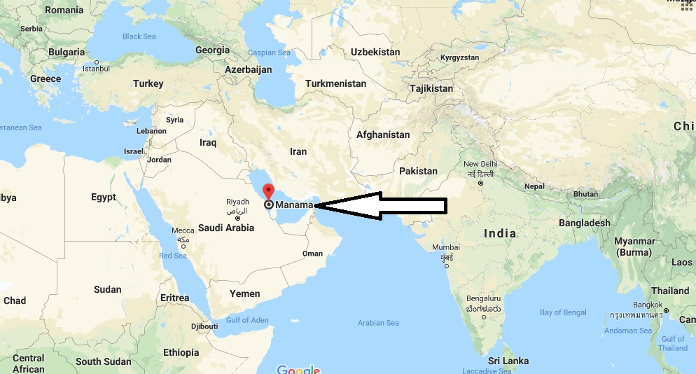Where is Manama - What Country is Manama in - Manama Map
