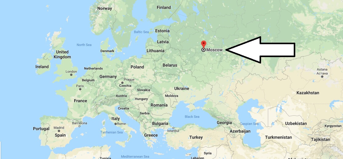 Where is Moscow - What Country is Moscow in - Moscow Map