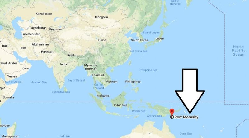 Where is Port Moresby - What Country is Port Moresby in - Port Moresby Map