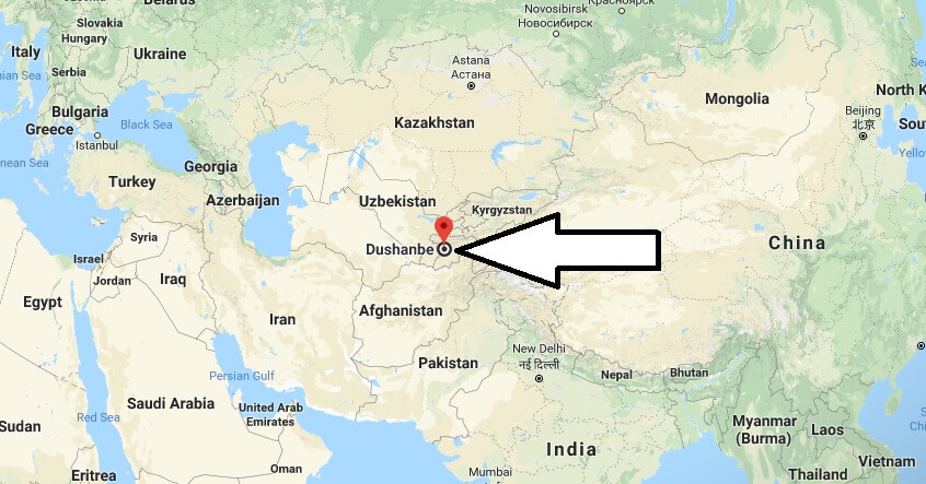 Where is Dushanbe - What Country is Dushanbe in - Dushanbe Map