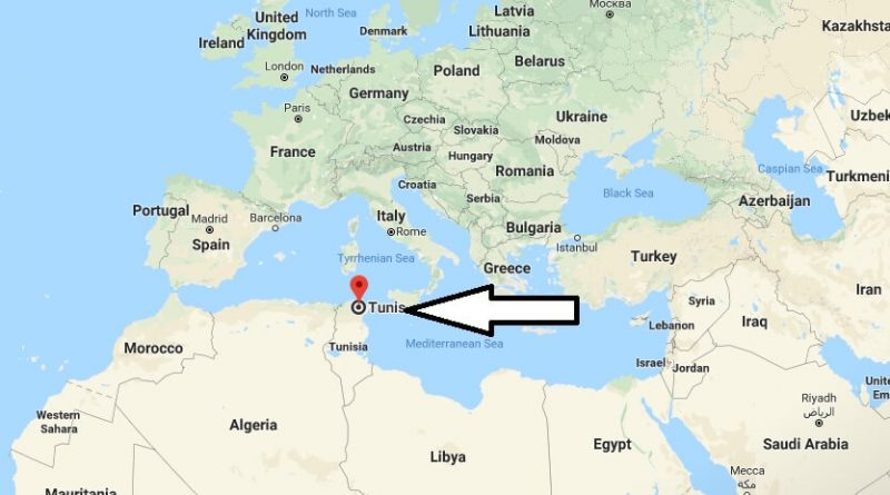 Where is Tunis - What Country is Tunis in - Tunis Map