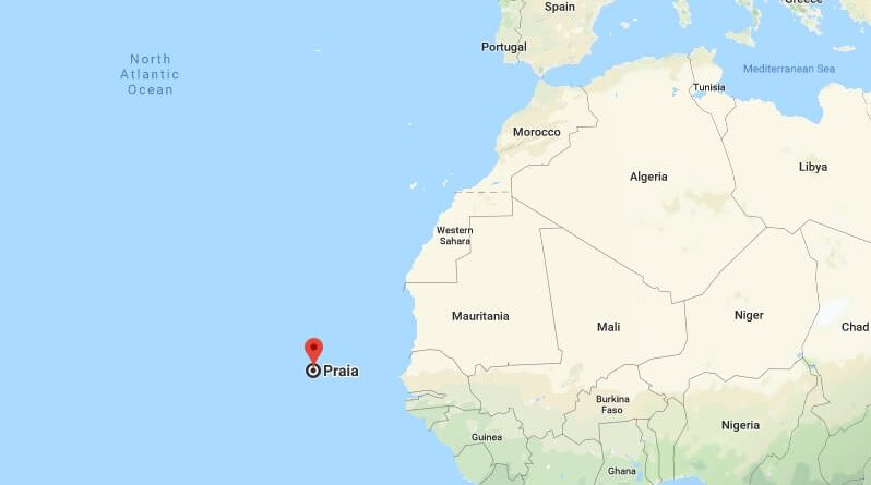 Where is Praia - What Country is Praia in - Praia Map