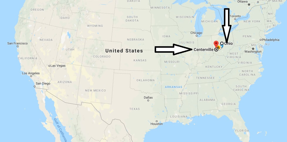 Where is Centerville Ohio Located Map? What County is Cedar Park?