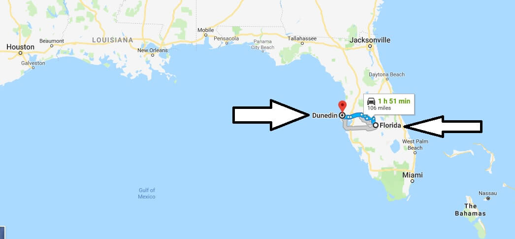 Where is Dunedin Florida (FL) Located Map? What County is Dunedin?