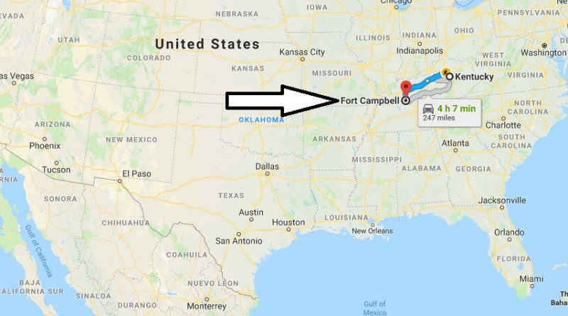 Where is Fort Campbell Kentucky (KY) Located Map - What County is Fort Campbell