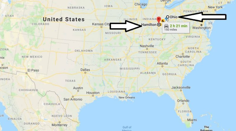Where is Hamilton Ohio (OH) Located Map? What County is Hamilton?