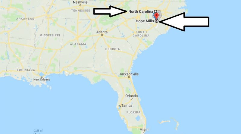 Where is Hope Mills North Carolina (NC) Located Map? What County is Hope Mills?