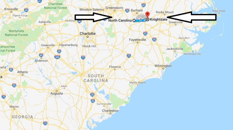 Where is Knightdale North Carolina (NC) Located Map? What County is Knightdale?