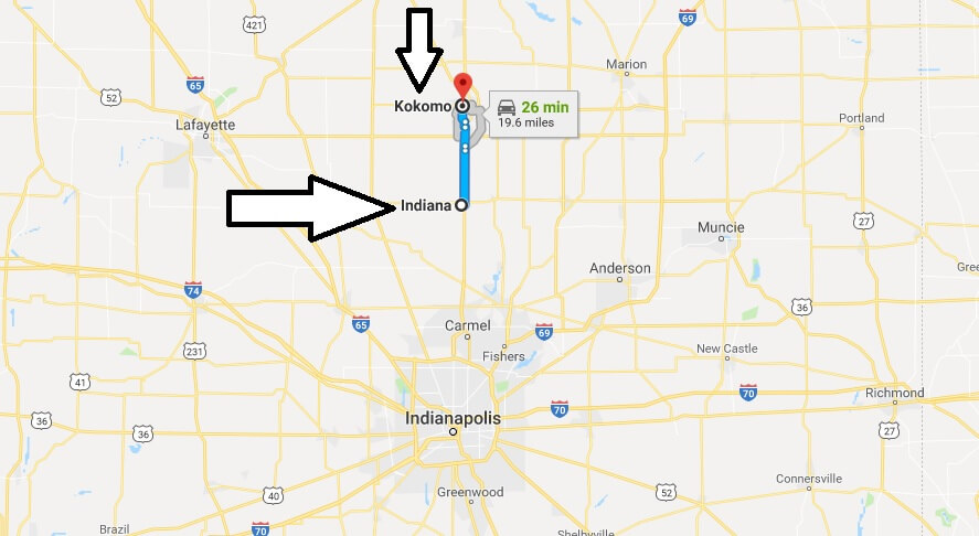 Where is Kokomo Indiana (IN) Located Map? What County is Kokomo?