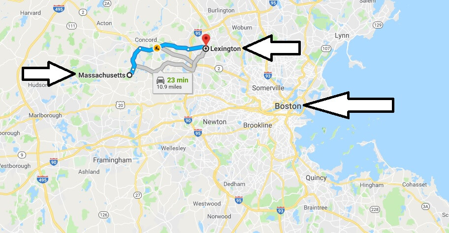 Where is Lexington Massachusetts (MA) Located Map? What County is Lexington?