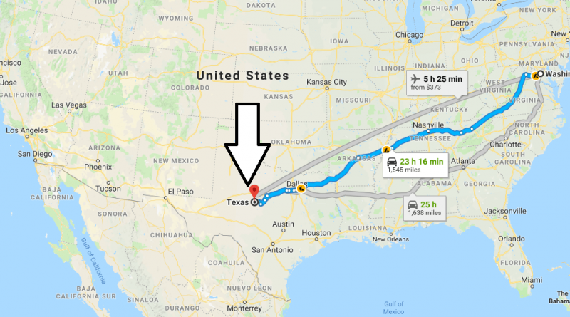 Where is Texas Located in the United States & Texas Map