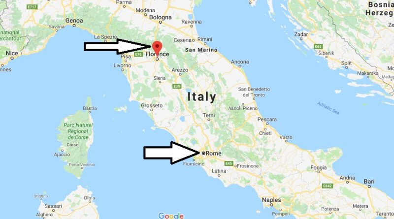 Where is Florence Italy Located Map? What County is Florence?