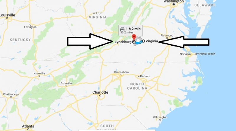 Where is Lynchburg Virginia (VA) Located Map? What County is Lynchburg?