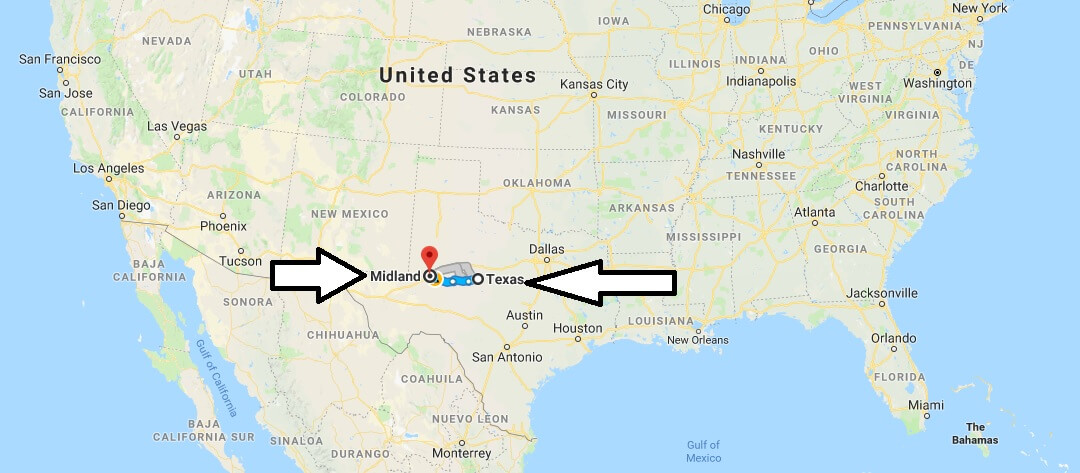 Where is Midland Texas (TX) Located Map? What County is Midland?