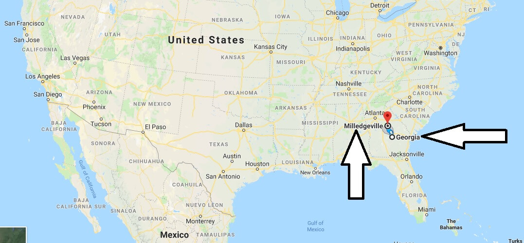 Where is Milledgeville Georgia (GA) Located Map? What County is Milledgeville?