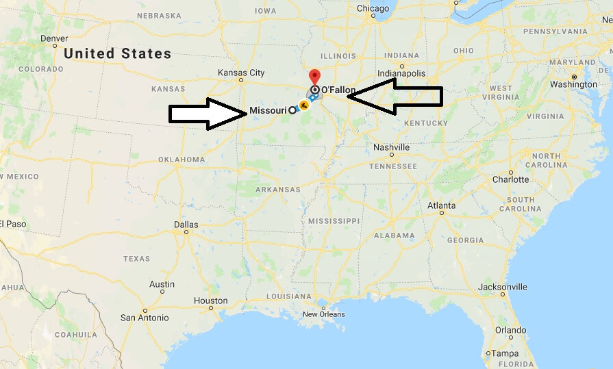 Where is O'Fallon Missouri (MO), Located Map? What County is O'Fallon?