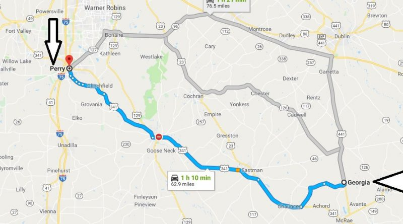 Where is Perry Georgia (GA), Located Map? What County is Perry?