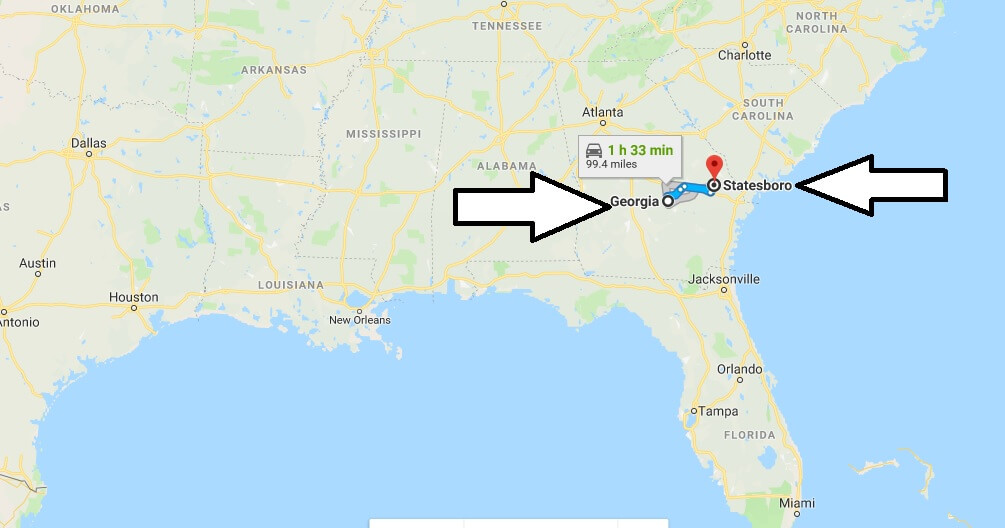 Where is Statesboro Georgia (GA), Located Map - What County is Statesboro