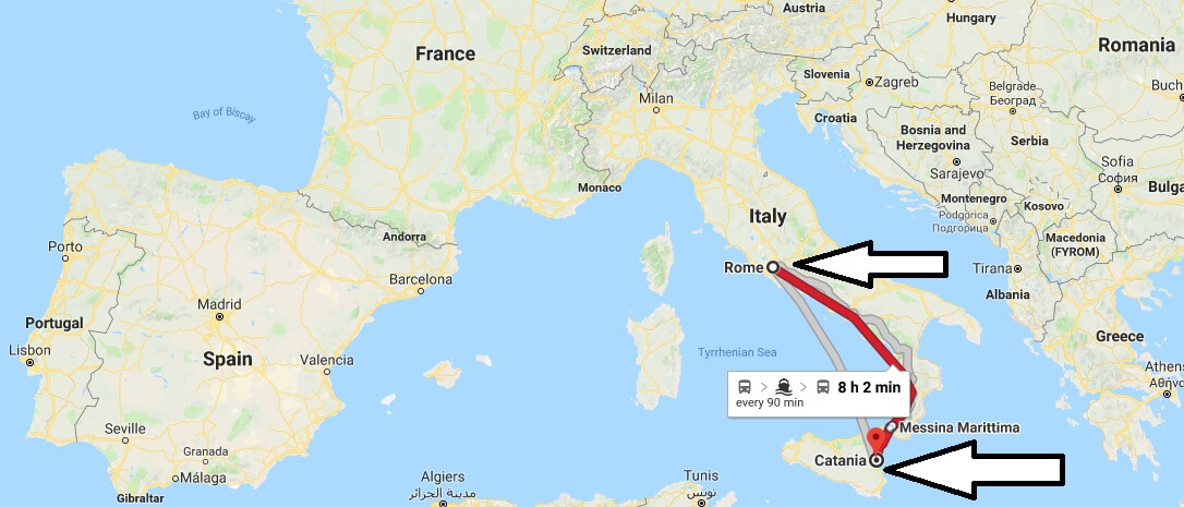Where is Catania Italy Located Map? What County is Catania?