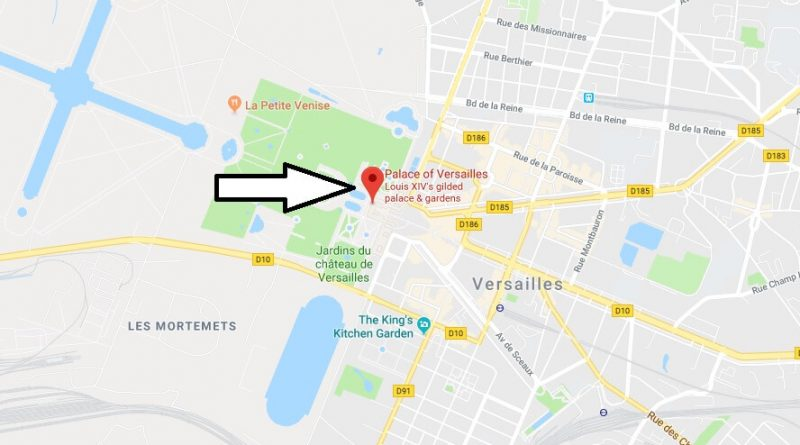 Where is Palace of Versailles? What Country is Palace of Versailles in? Palace of Versailles Map
