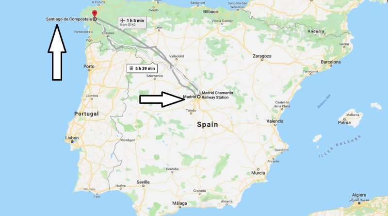 Where is Santiago de Compostela? What Country is Santiago de Compostela in? Santiago de Compostela Map