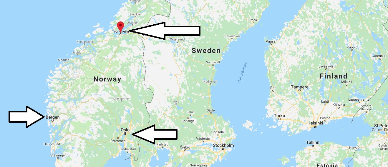 Where is Trondheim? What Country is Trondheim in? Trondheim Map