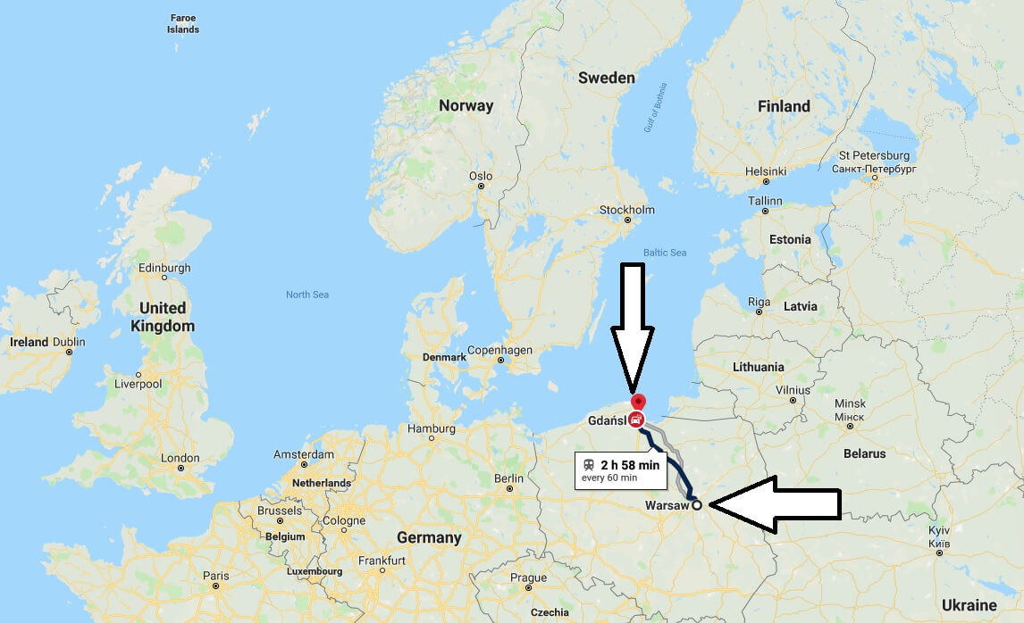 Where is Gdansk - What Country is Gdansk in - Gdansk Map
