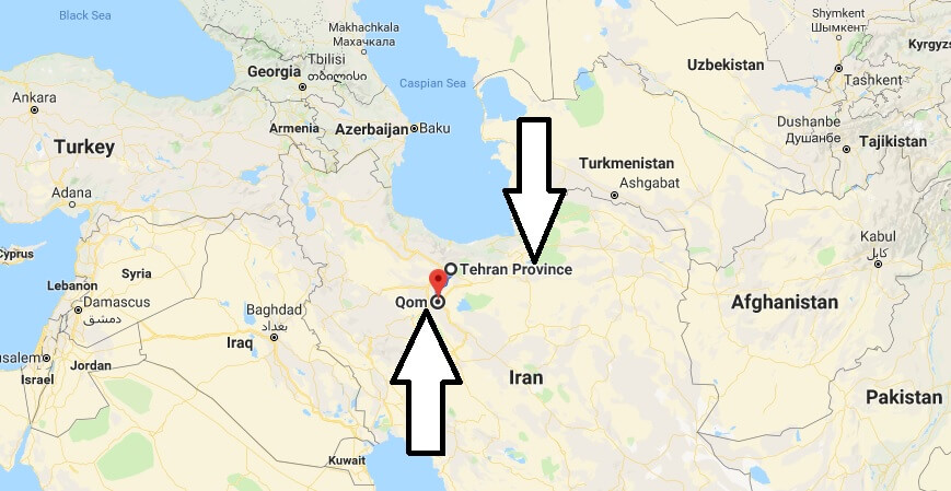 Where is Qom - What Country is Qom in - Qom Map
